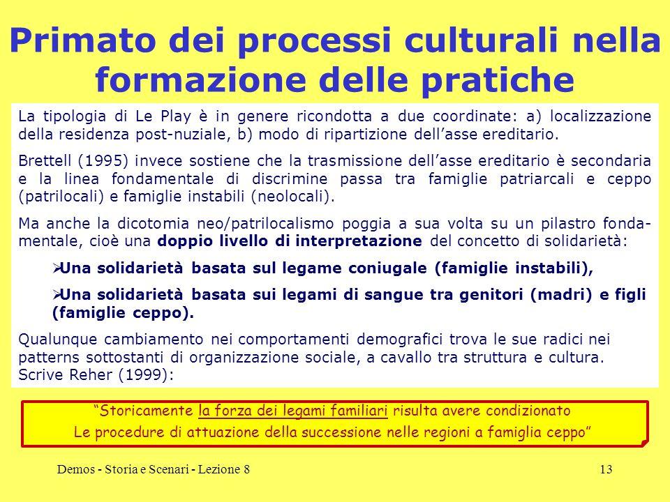 Primato dei processi culturali nella formazione delle pratiche