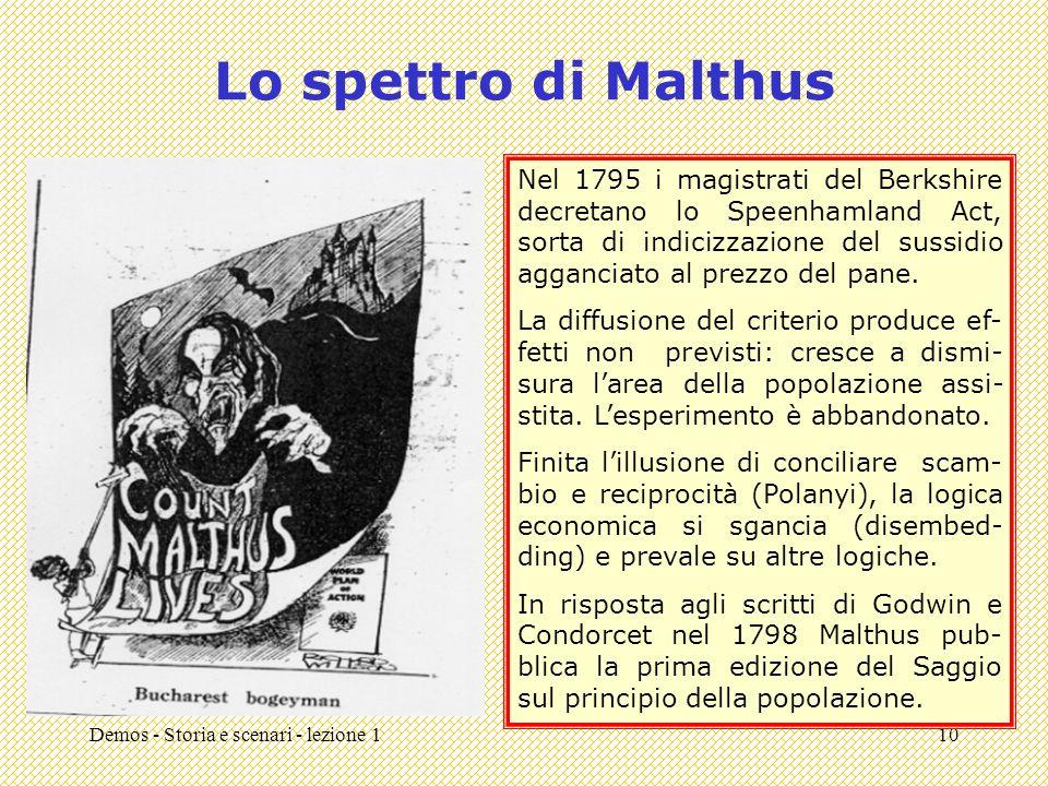 Lo spettro di Malthus