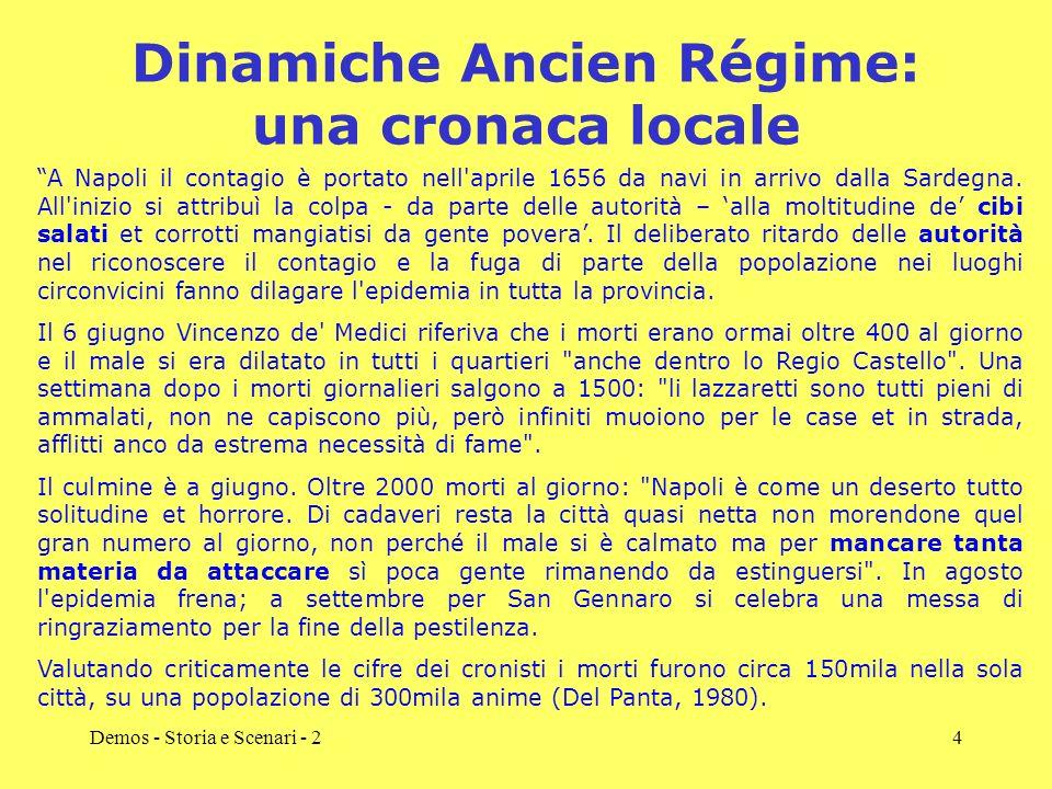 Dinamiche Ancien Régime: una cronaca locale