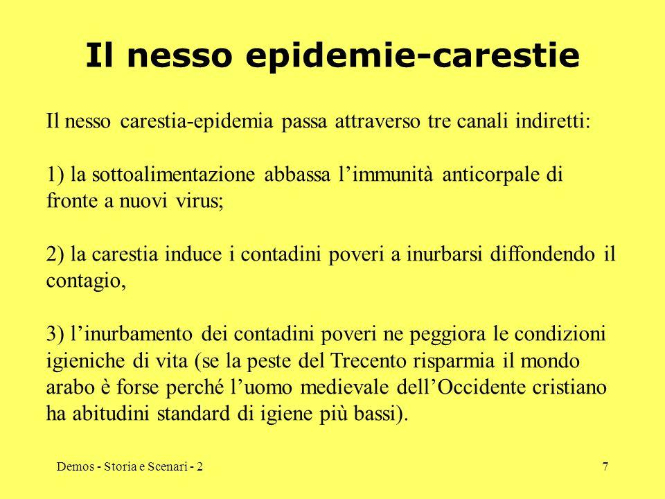 Il nesso epidemie-carestie