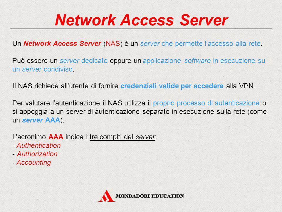 Network Access Server Un Network Access Server (NAS) è un server che permette l'accesso alla rete.