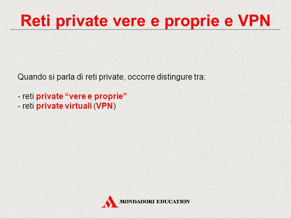 Reti private vere e proprie e VPN