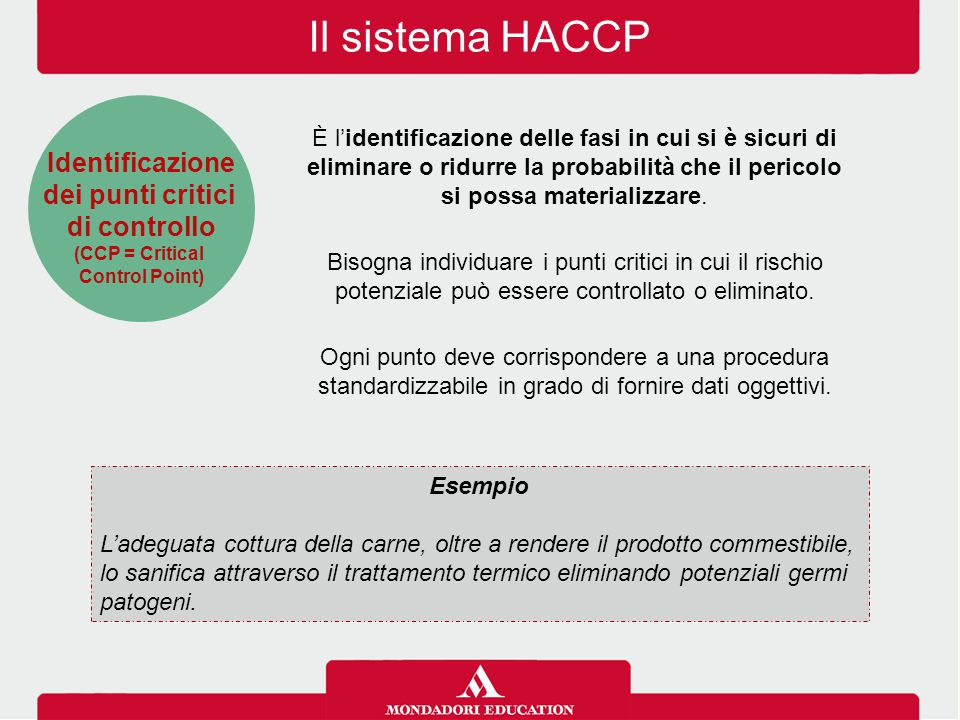 Il sistema HACCP Identificazione dei punti critici di controllo