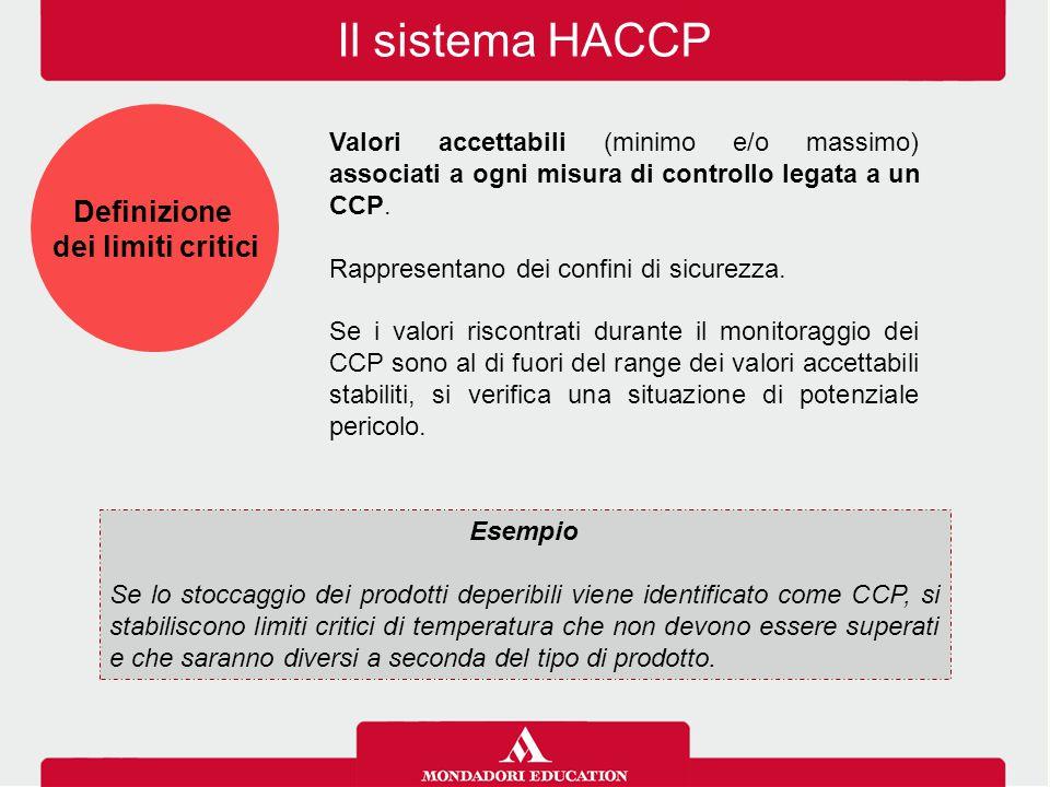 Il sistema HACCP Definizione dei limiti critici