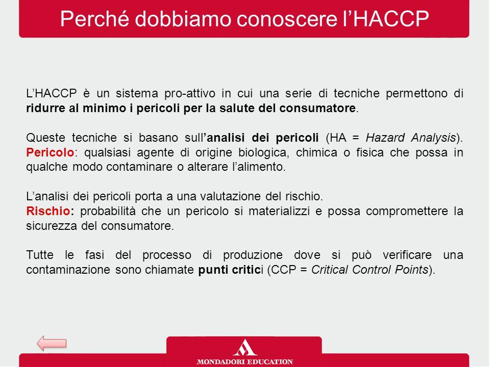 Perché dobbiamo conoscere l'HACCP