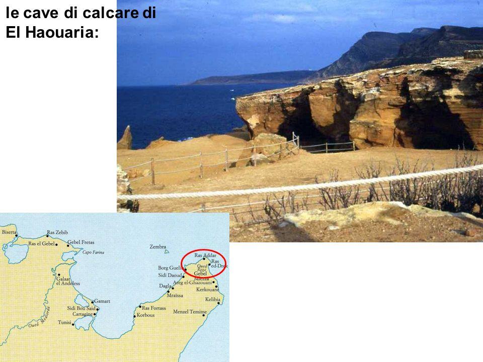 le cave di calcare di El Haouaria: