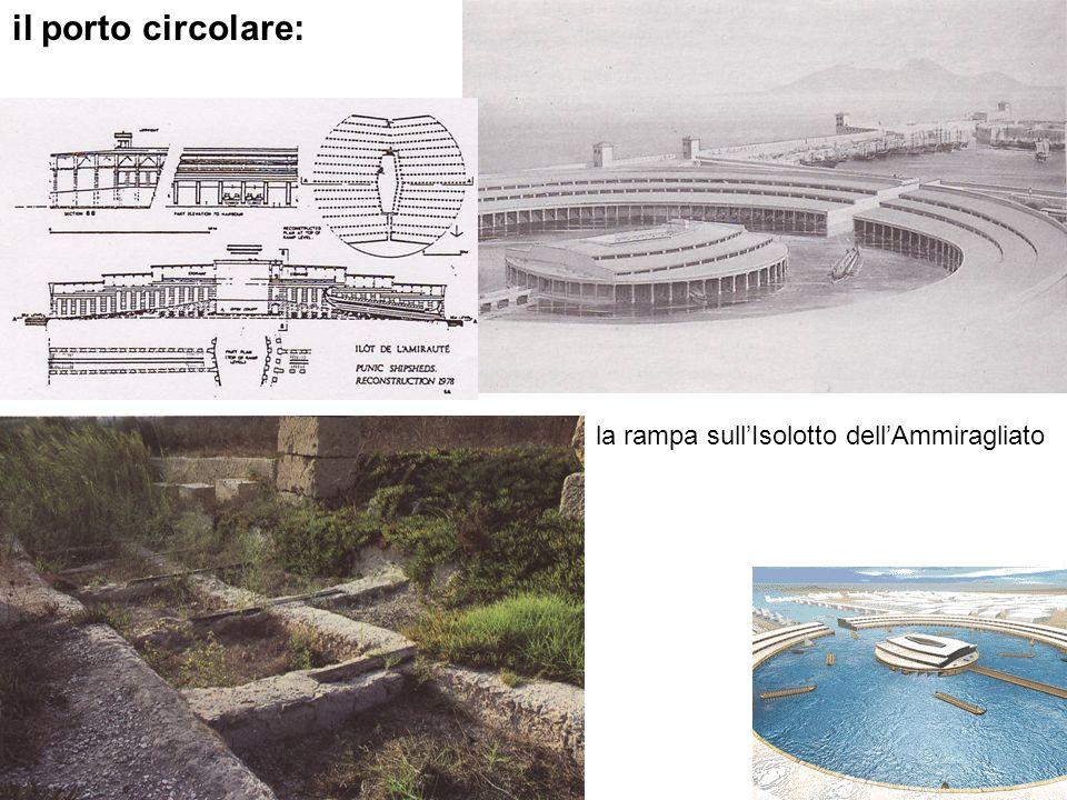 il porto circolare: la rampa sull'Isolotto dell'Ammiragliato