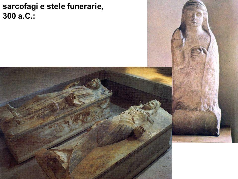 sarcofagi e stele funerarie,