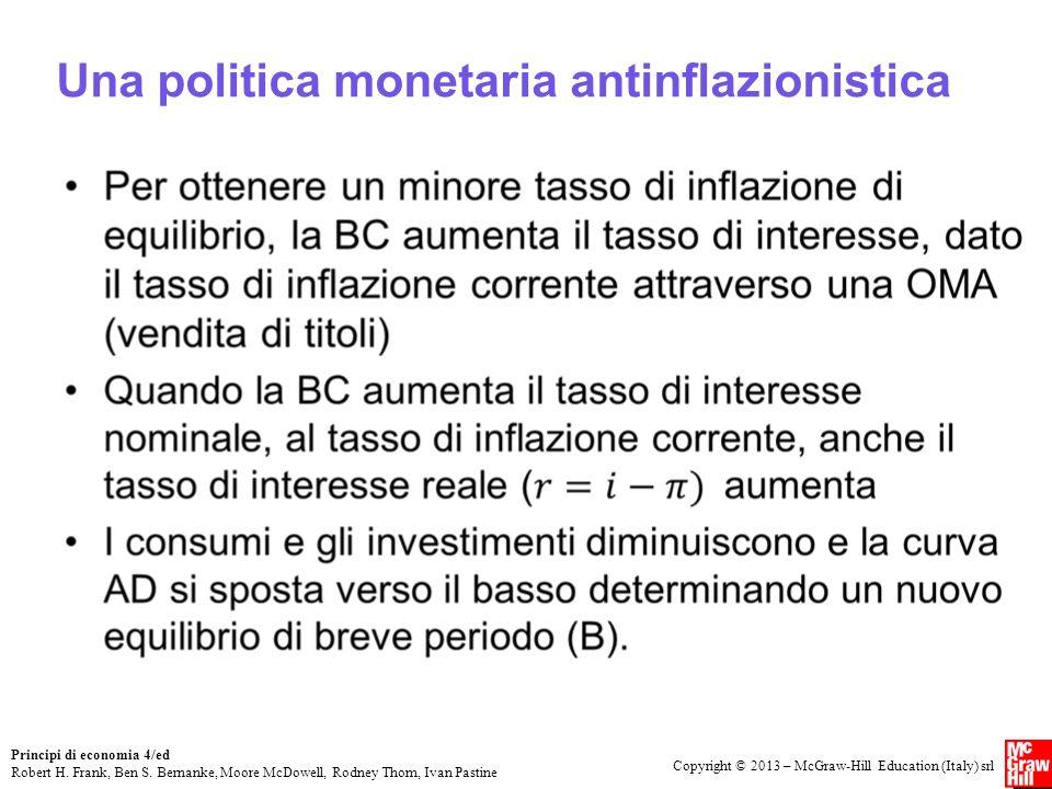 Una politica monetaria antinflazionistica