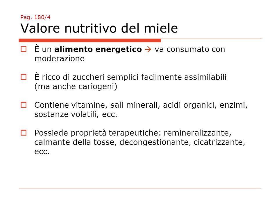 Pag. 180/4 Valore nutritivo del miele