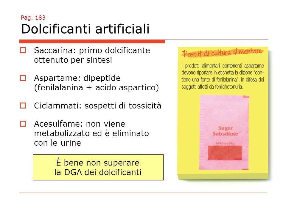 Pag. 183 Dolcificanti artificiali