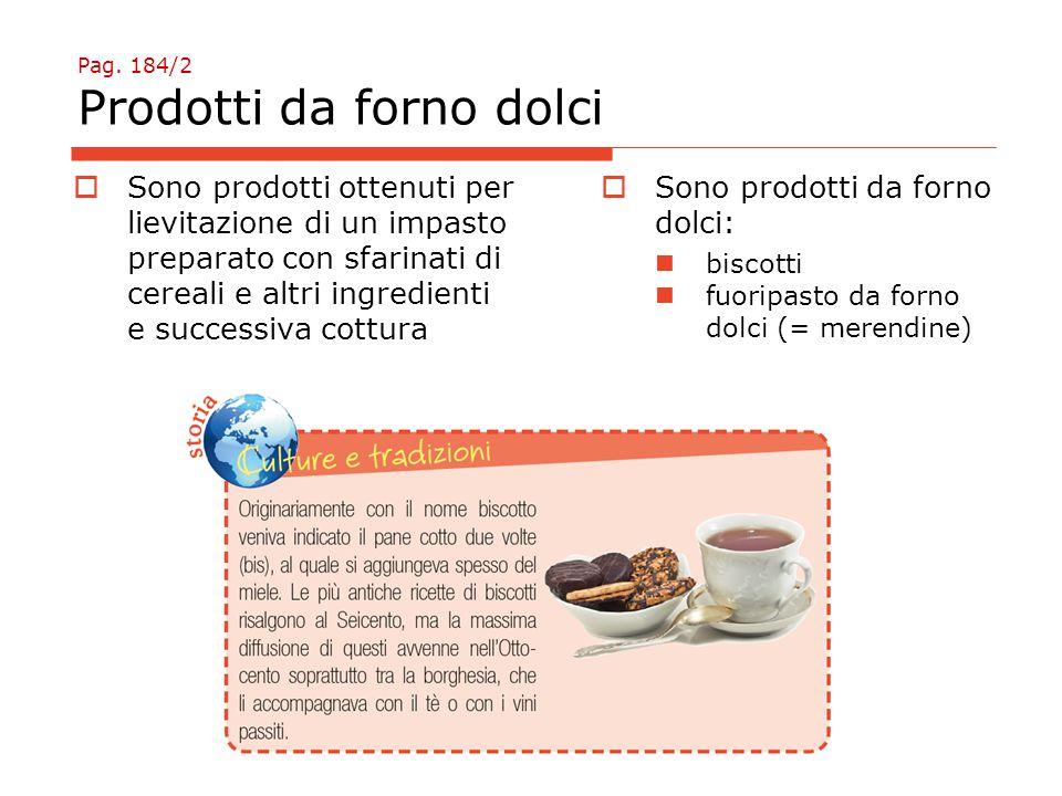 Pag. 184/2 Prodotti da forno dolci