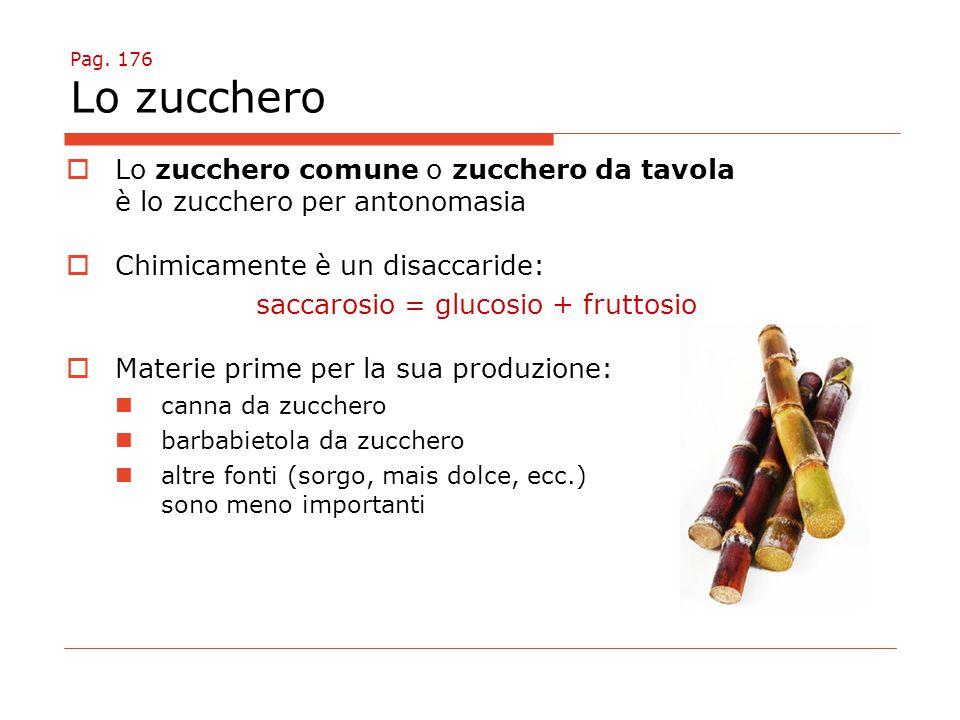saccarosio = glucosio + fruttosio