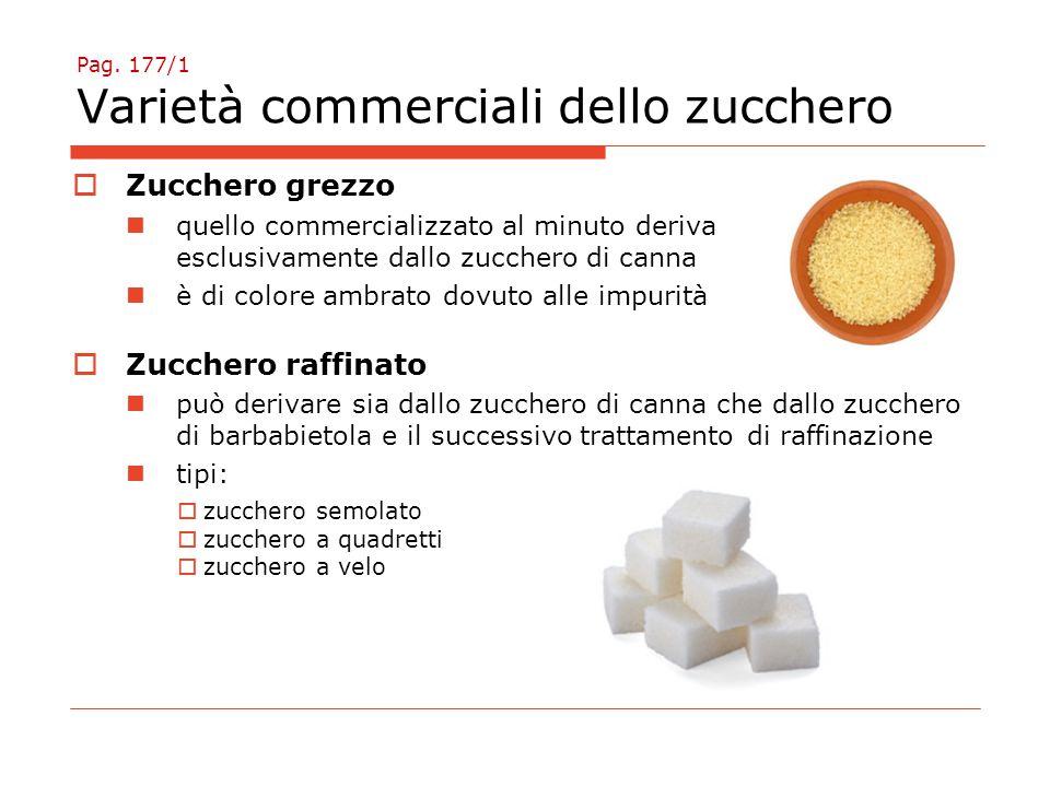Pag. 177/1 Varietà commerciali dello zucchero