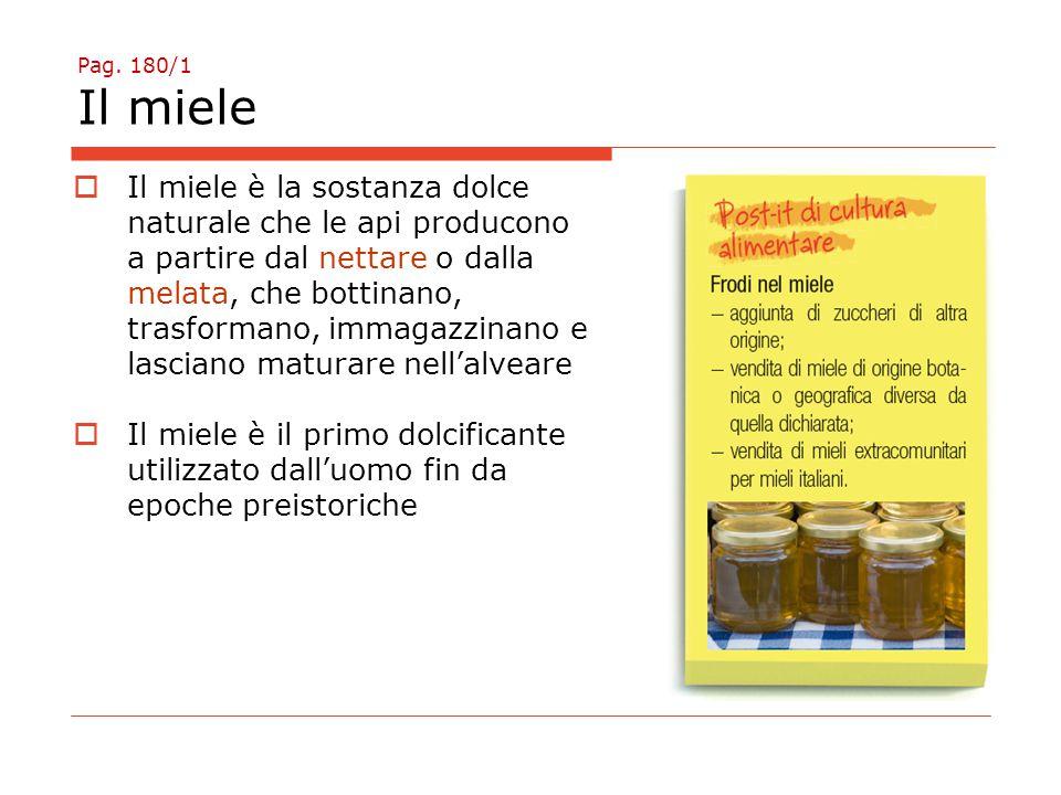 Pag. 180/1 Il miele