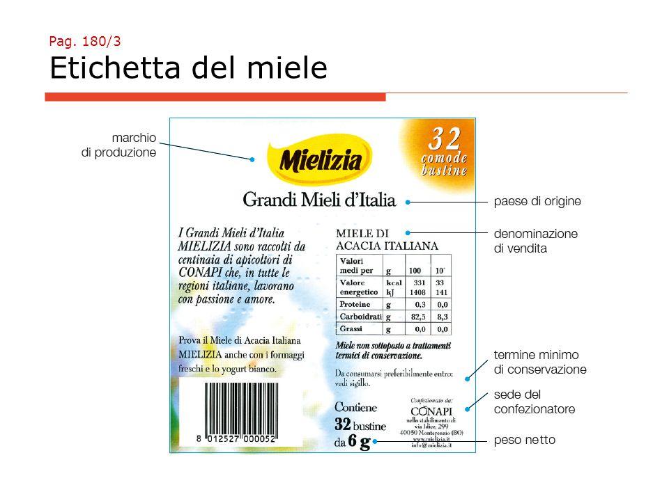 Pag. 180/3 Etichetta del miele