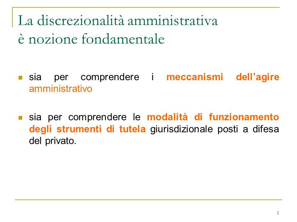 La discrezionalità amministrativa è nozione fondamentale