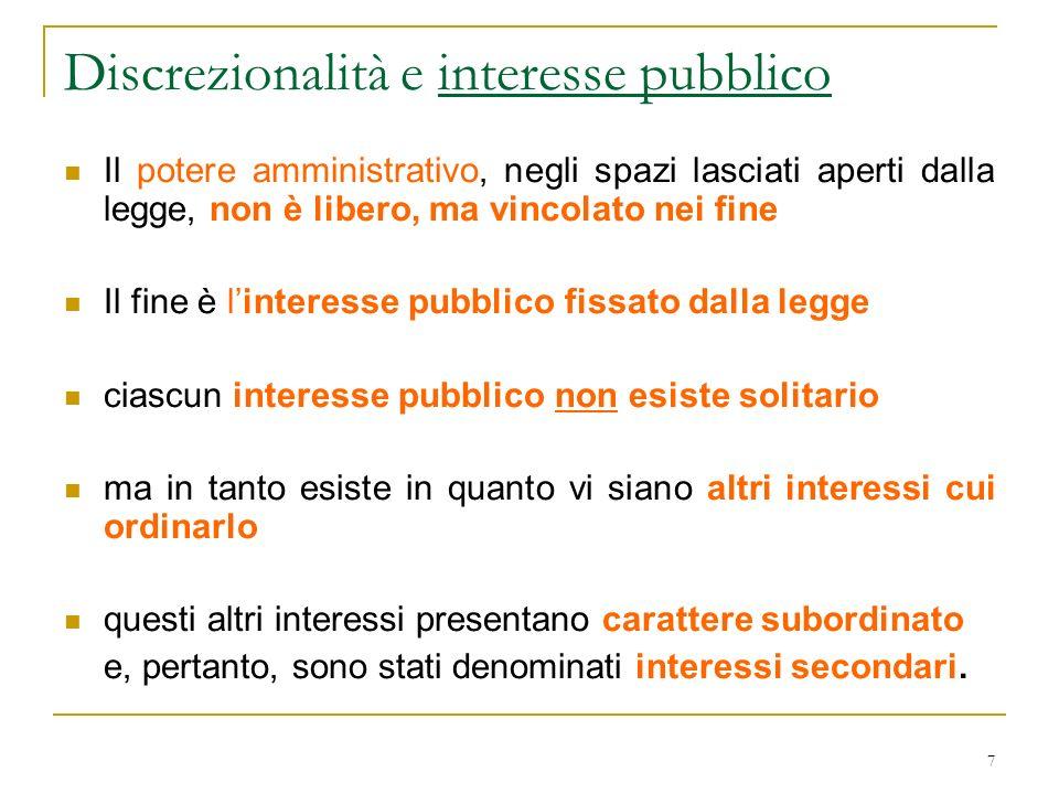 Discrezionalità e interesse pubblico