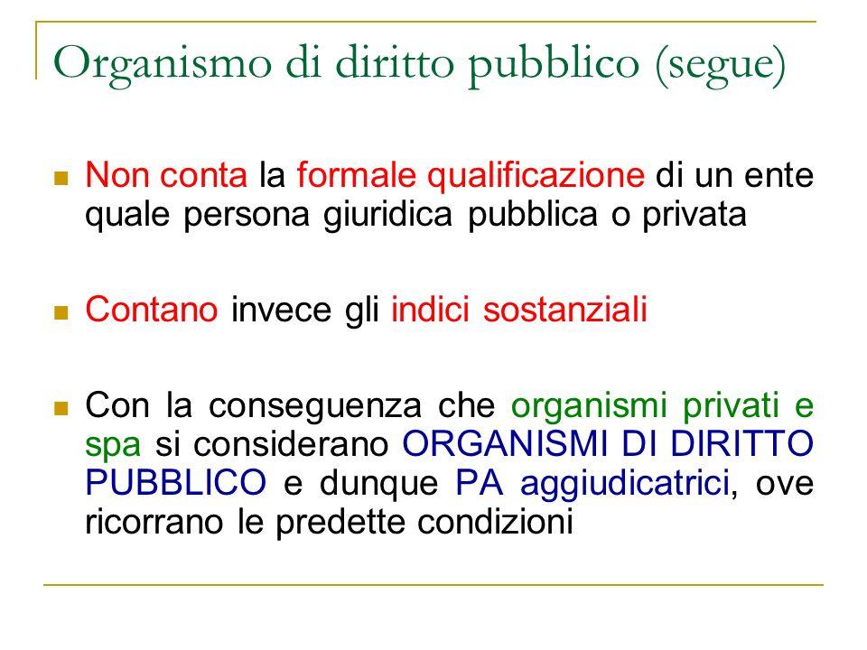 Organismo di diritto pubblico (segue)