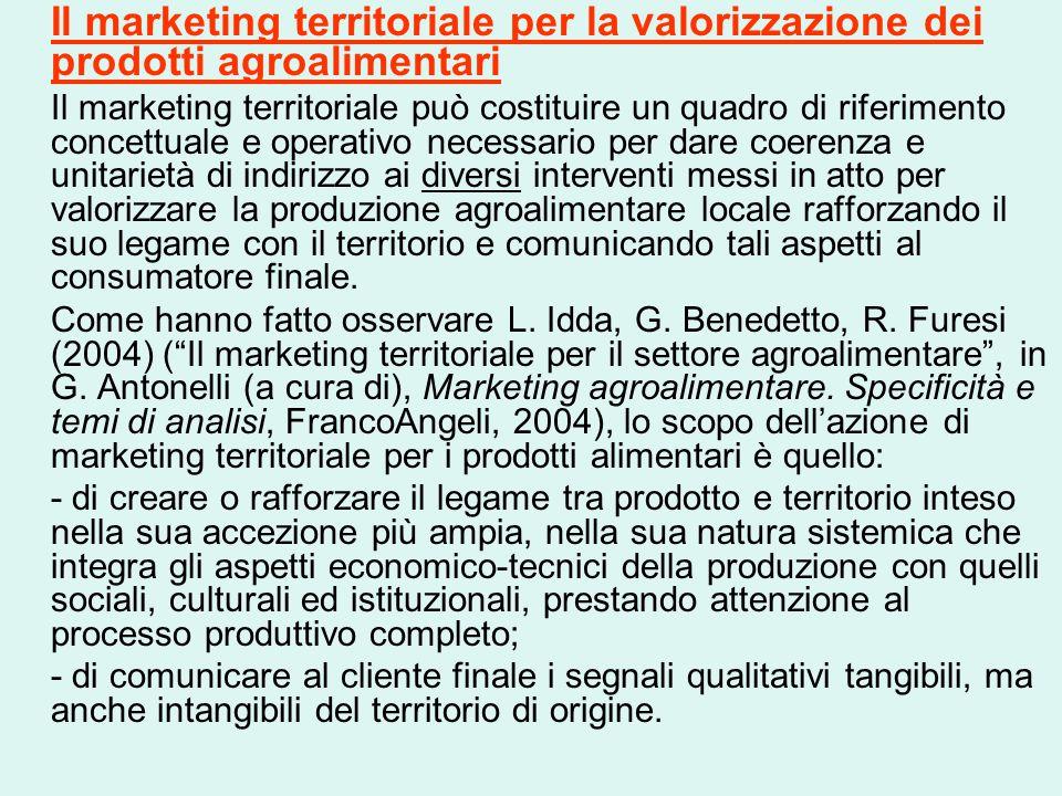 Il marketing territoriale per la valorizzazione dei prodotti agroalimentari