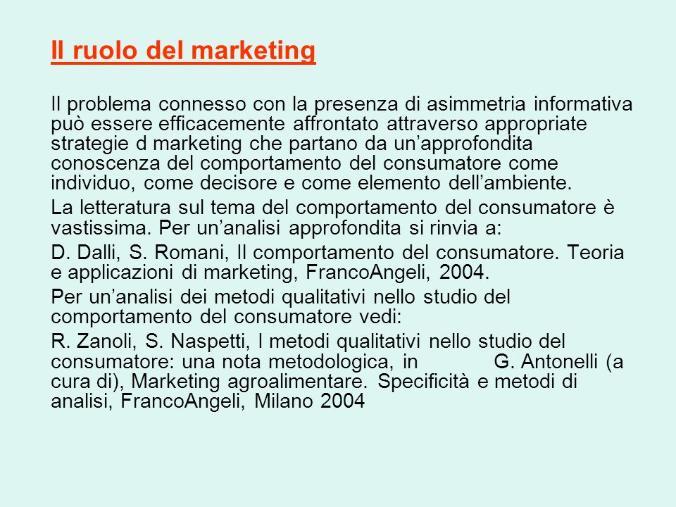 Il ruolo del marketing