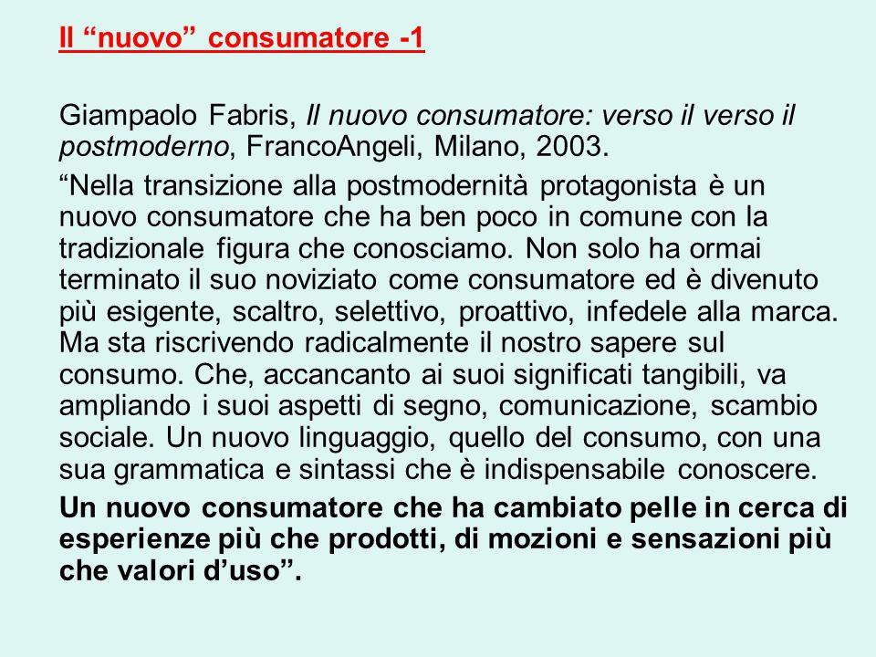 Il nuovo consumatore -1