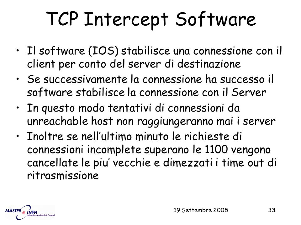TCP Intercept Software