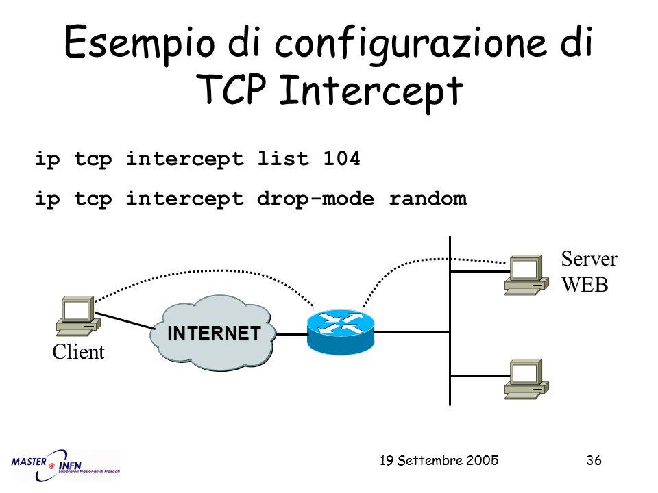 Esempio di configurazione di TCP Intercept