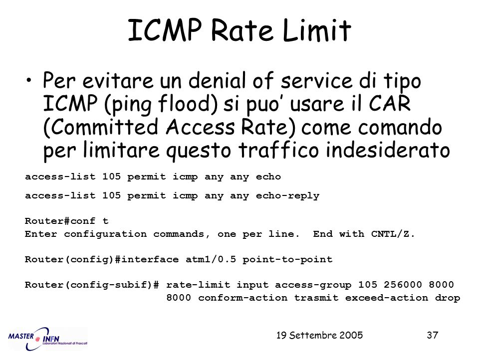 ICMP Rate Limit