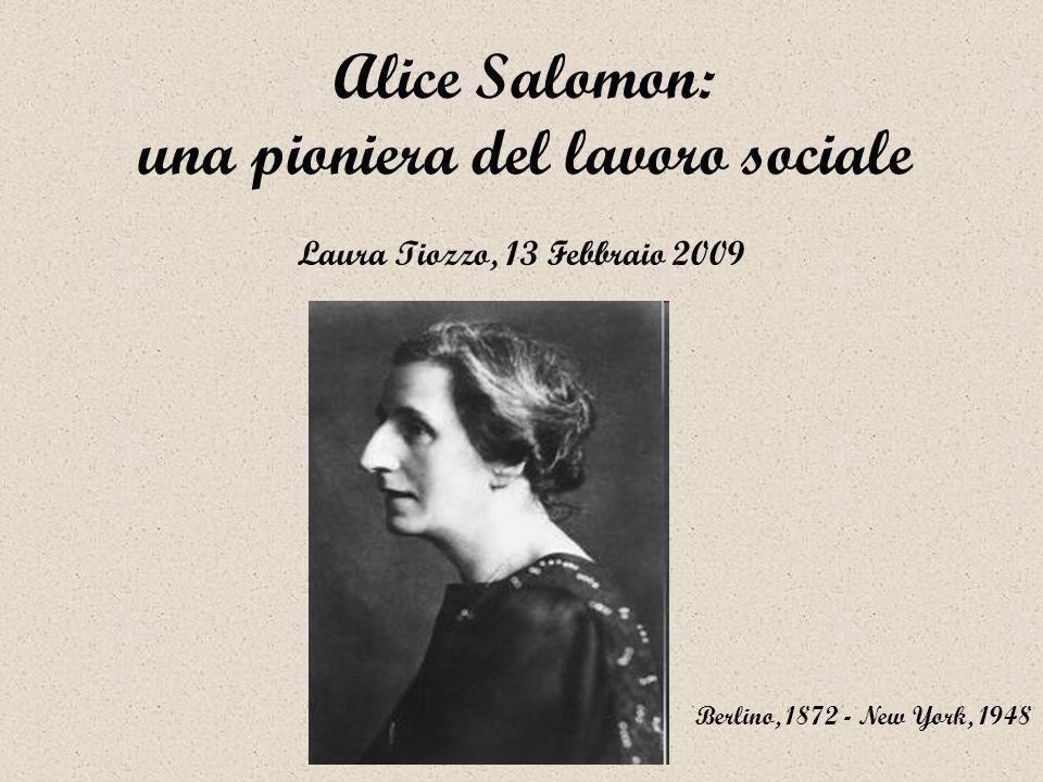 Alice Salomon: una pioniera del lavoro sociale