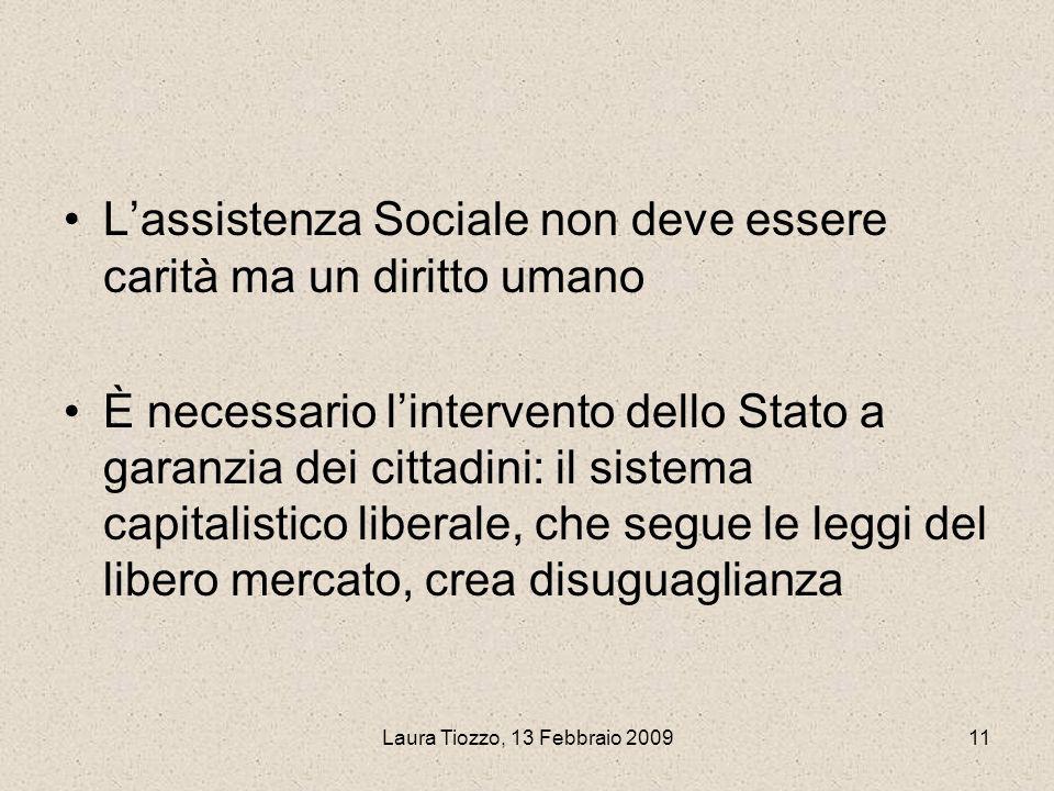 L'assistenza Sociale non deve essere carità ma un diritto umano
