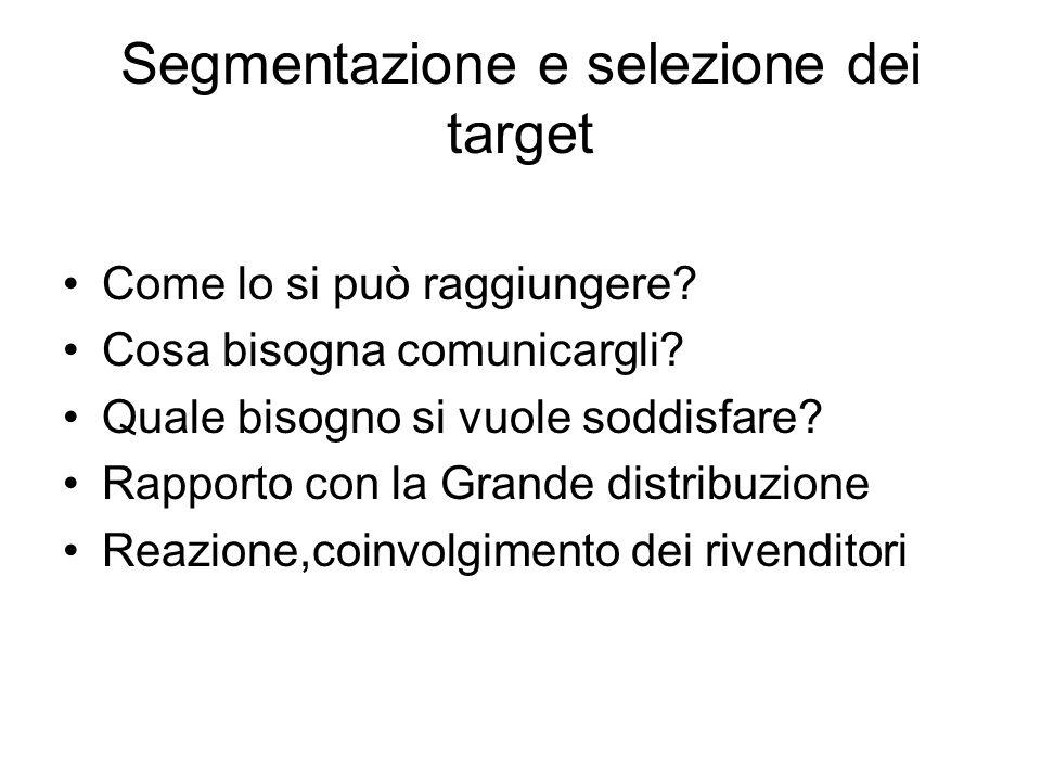 Segmentazione e selezione dei target