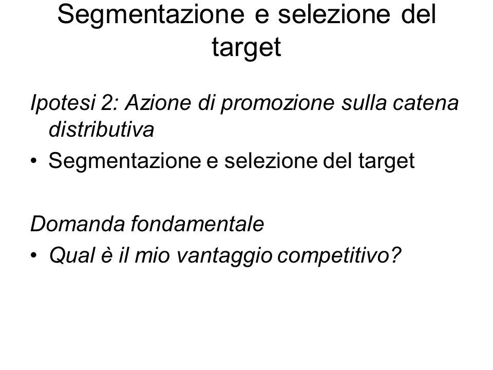 Segmentazione e selezione del target