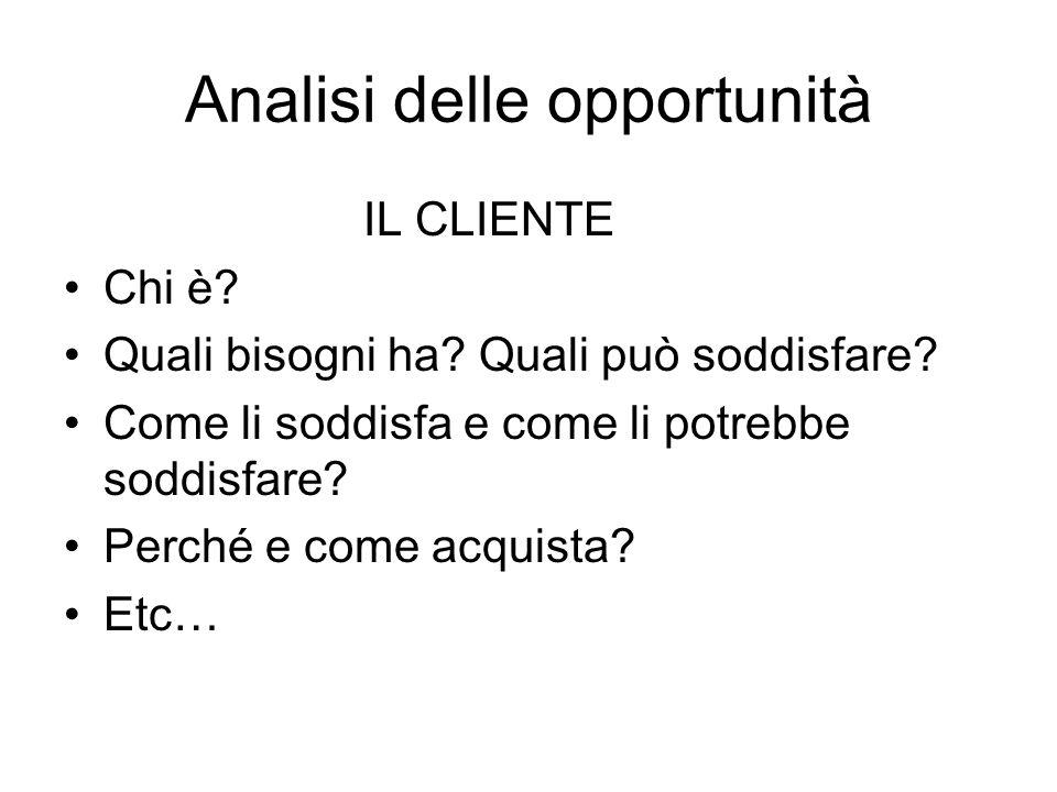Analisi delle opportunità