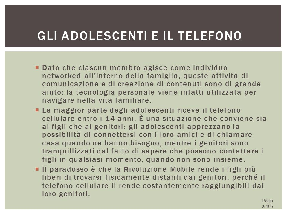 Gli adolescenti e il telefono