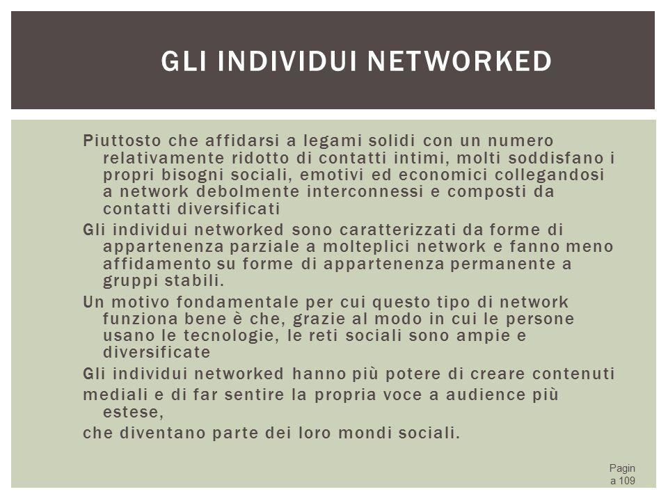 Gli individui networked