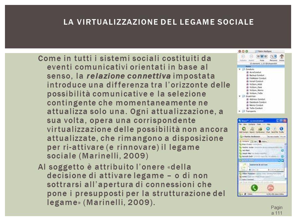 La virtualizzazione del legame sociale