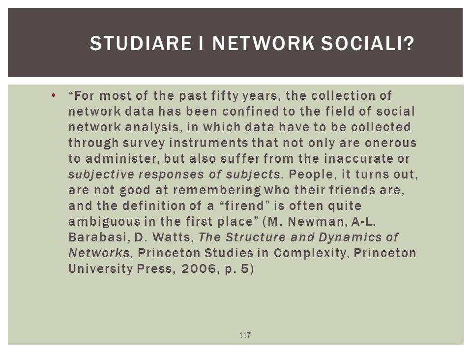 Studiare i network sociali