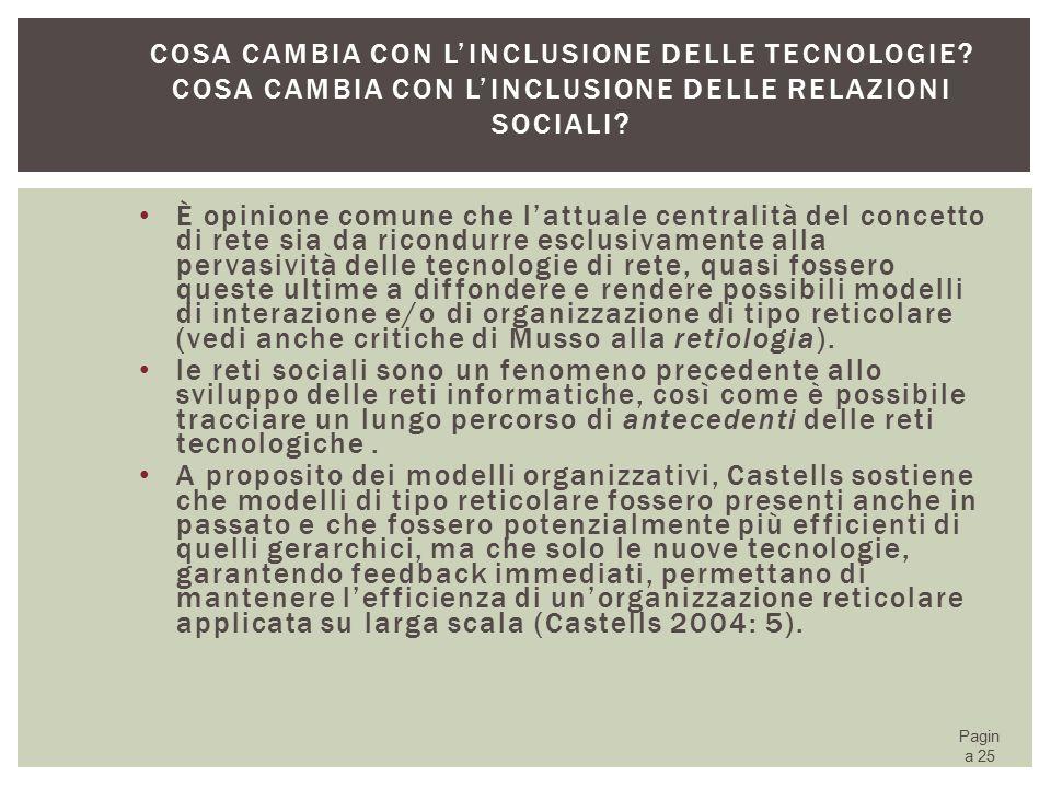 Cosa cambia con l'inclusione delle tecnologie