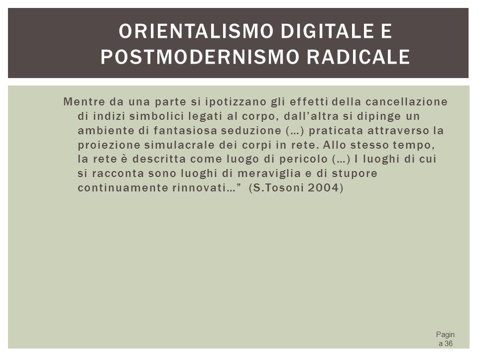 Orientalismo digitale e postmodernismo radicale