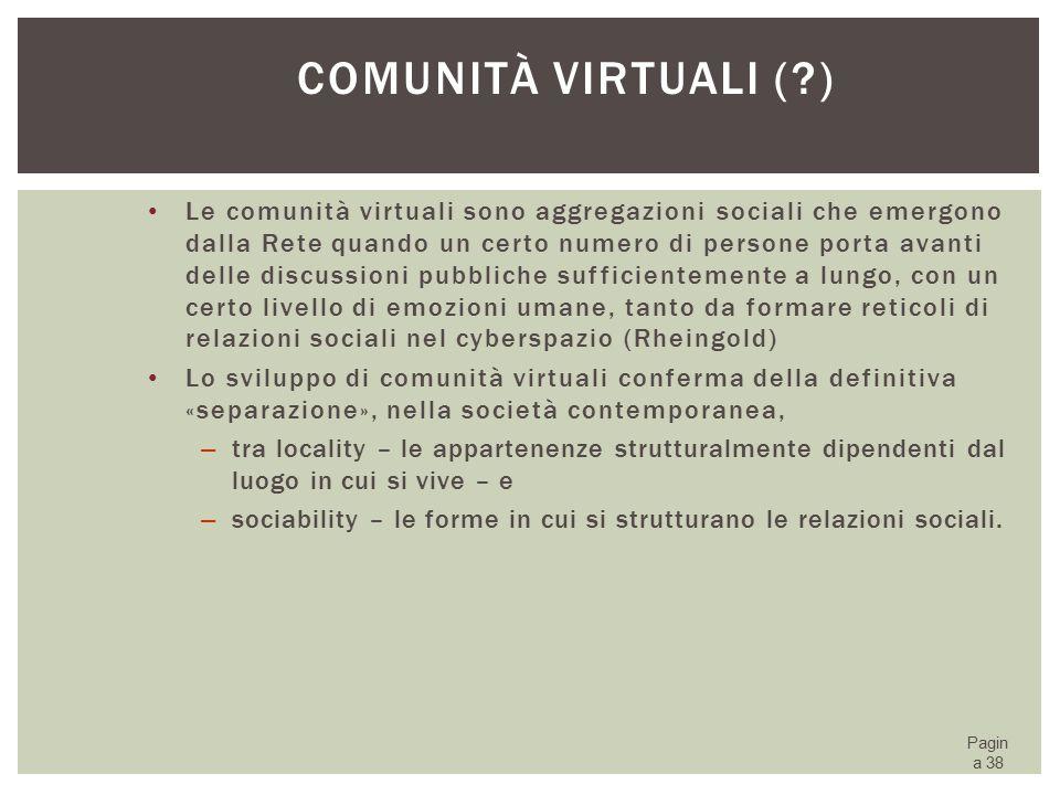 Comunità virtuali ( )