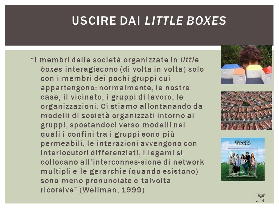 Uscire dai little boxes