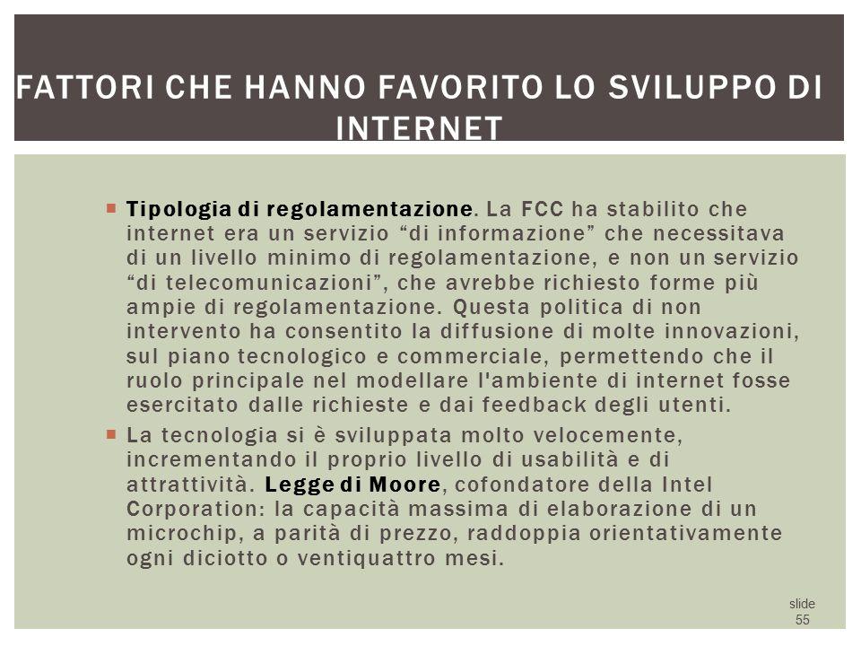 Fattori che hanno favorito lo sviluppo di internet