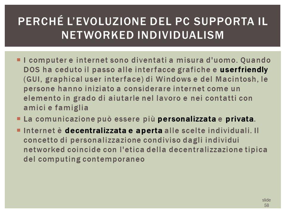 Perché l'evoluzione del Pc supporta il networked individualism
