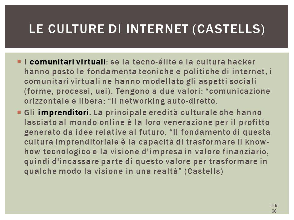Le culture di internet (Castells)