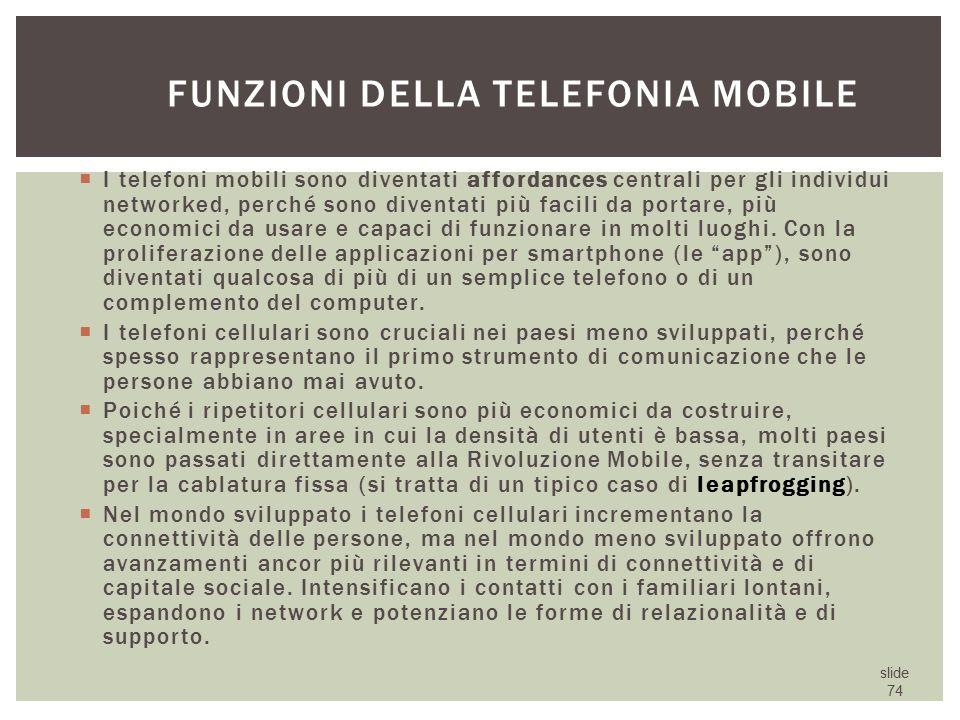 Funzioni della telefonia mobile