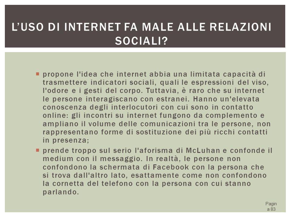 L'uso di Internet fa male alle relazioni sociali