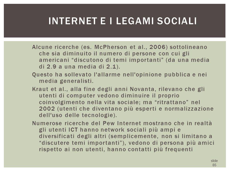 Internet e i legami sociali