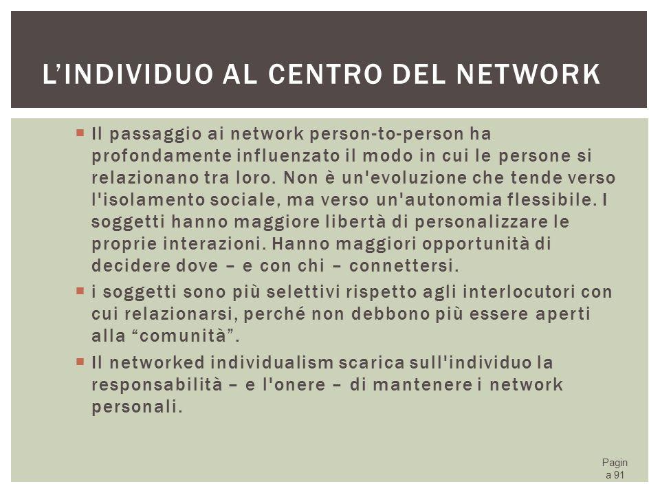 L'individuo al centro del network