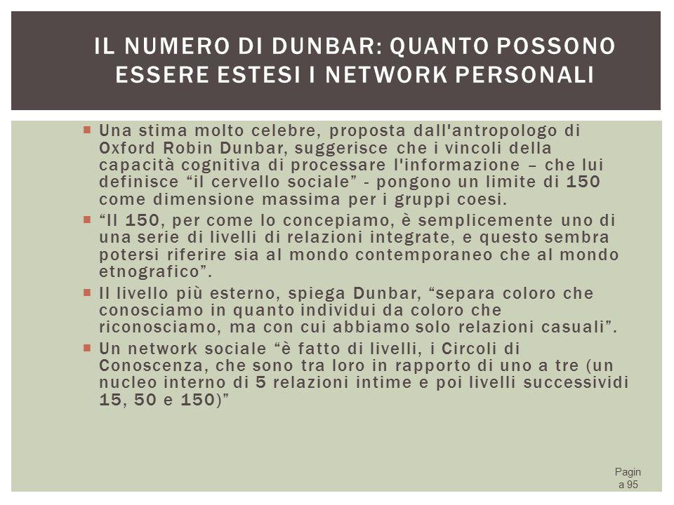 Il numero di Dunbar: quanto possono essere estesi i network personali